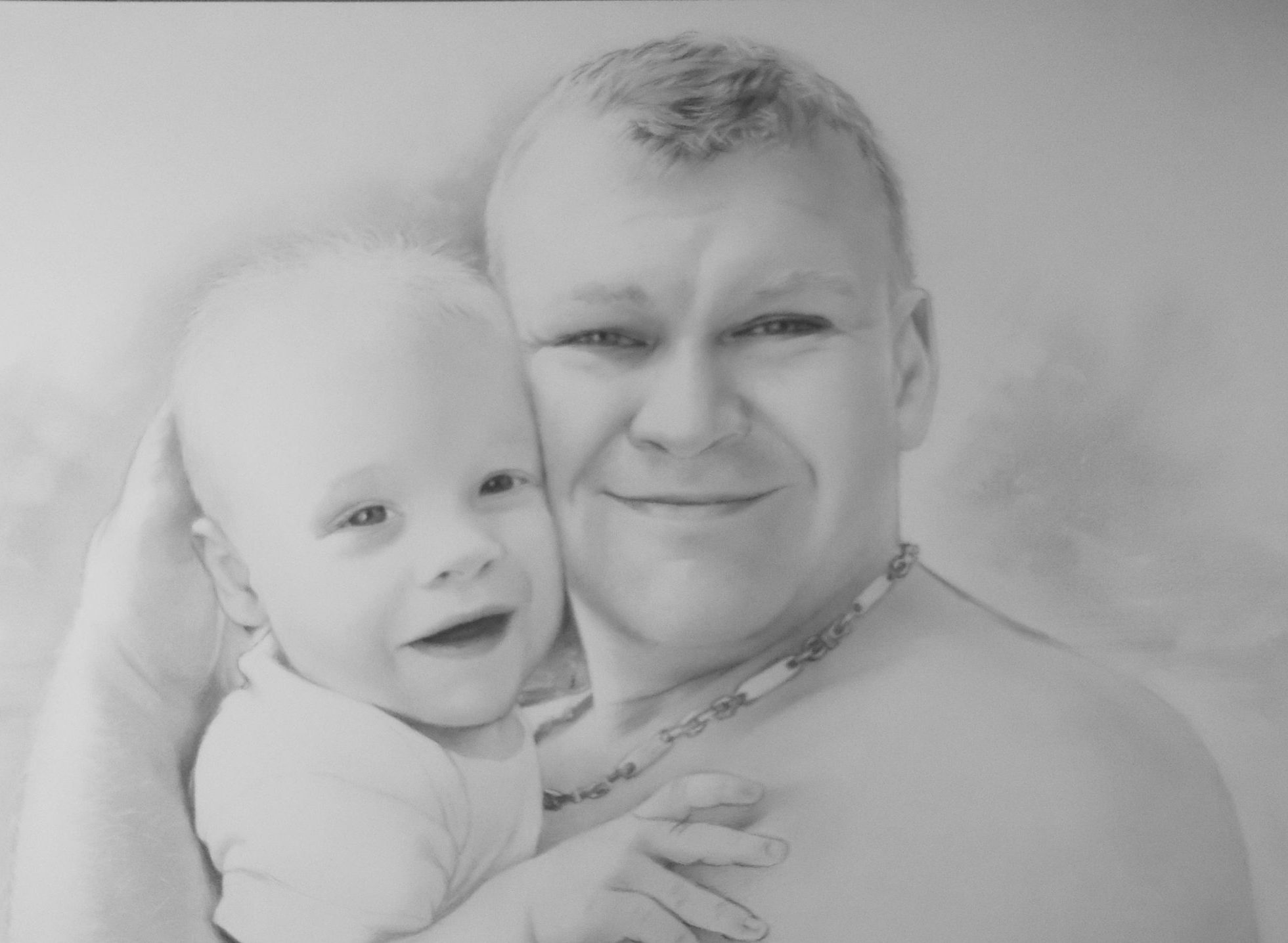 család portré rajz