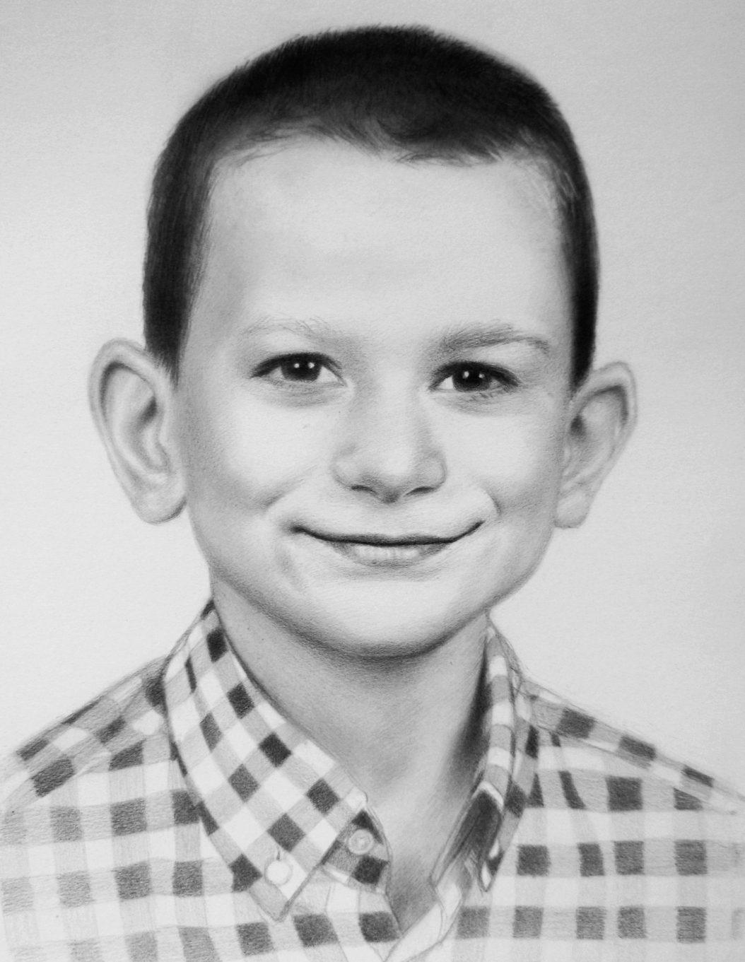 fiú portré rajz